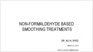 Non-Formaldehyde Hair Smoothing